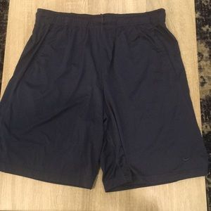 Navy Blue Nike Dri-fit shorts with pockets. XL